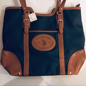 NWT US Polo Assn Navy Tote Bag